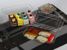 hot sale BOPS BPA free 100% food grade plastic sushi take out container