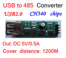 USB to RS485 485 Converter Adapter Module CH340 CH340T usb converter 5V/0.5A 1200meter USB2.0 for LED screen Communication