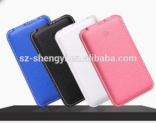 2015 new design power bank leather polymer battery 4000 mah