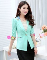 2015 New Spring Fashion Colorful Women Suit Jacket Wholesale One Button Slim Lady Suit Lapel Collar Fashion OL Jacket