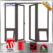Australian AS2047 Standards modern front double glazed insulated aluminum double door design with multi locking system