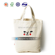 OEM production Natural Recyclable Promotional customed design Blank Cotton Tote Bag for shopping
