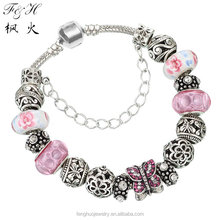 Yiwu jewelry factory 2015 fashion bracelet charms fit European style bracelet, charm bracelet for women