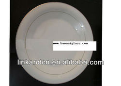 KC-00487 ceramic divided plate shining golden circle