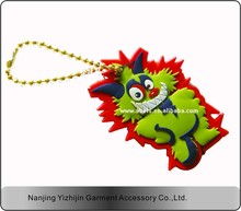 high quality custom 3d rubber key chain/pvc key chain