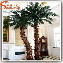2015 factory fake artificial palm trees for models plastic palm tree plants costume on wholesales