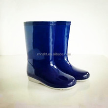High quality light surface blue beautiful cheap kid's PVC rain boots