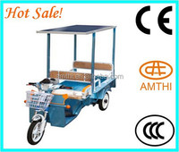 solar electric tricycle ,electric rickshaw ,top selling cheap new design solar power tricycle for cargo , AMTHI