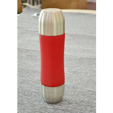 350ML Stainless Steel Vacuum Flask Water Bottle Thermos Mug Cute Body Shape Two Caps