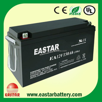Sealed Deep Cycle 150ah lead acid 12v battery for solar system