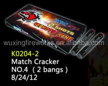 K0204-2 Match Cracker No.4 2 bangs/Direct Fireworks Factory/WUXING FIREWORKS FACTORY