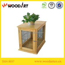 Square Wooden indoor dog house as Furniture, Spray Paint