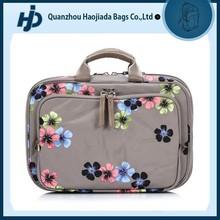 Trendy elegant floral pattern cosmetic packaging bag