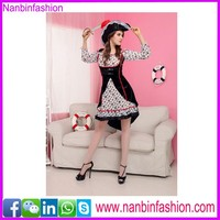 Black and white hottest maid dress sexy servant costume