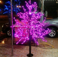 Top Sell High Quality Outdoor Decorative Led Spiral Tree Lighted Blossom Garden Flowers