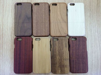 2015 New Products Case High Quality Solid Wooden Wood Case for iPhone 6 Plus With Colorful
