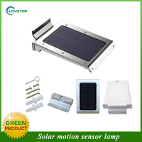 4 color case solar powered motion sensor light led outdoor wall light
