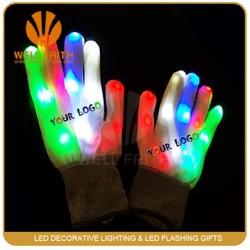 Made in China LED Gloves For Light Show,Personal Design Black LED Light-Up Gloves