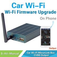 Multimedia auto system upgrade wifi display receiver dlna airplay miracast