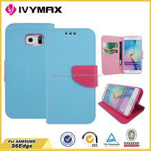 For samsung S6 Edge leather case China manufacture ivy cell phone case