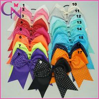 Boutique 8inch Large Cheer Hair Bows Diamand Cheer Bow For Baby,Satin Girls Elastic Hair Bands(CNHB-1408184 )