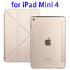 Paypal Accepted with Transparent Back Leather Cover for iPad Mini 4