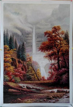 Small river waterfall picture on canvas