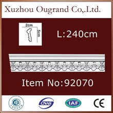 pu plastic baseboard picture frame molding for house decor