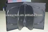 22mm six disc pp black dvd case /22mm pp black dvd box for six disc
