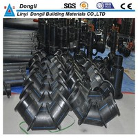 Fabricated HDPE pipe fittings butt welding tee elbow flange adaptor