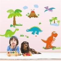 Colorcasa removable wall sticker PVC wall paper ZYPB9044 cartoon dinosaurs 3D wall sticker art home decor for nursery room