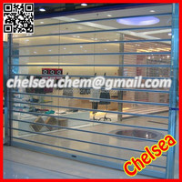 Electric commercial shopfront crystal roll door, shopping mall used crystal shutter roll door