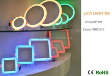 RGB dimmable led panel light 18W RGB led light panel with 2.4G system/DC12V full color rgb led panel light dmx system is option