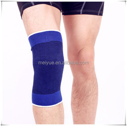 Popular Outdoor Football Sports Protective Breathable Blue Nylon Elastic Knee Sleeve