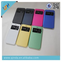 New Arrival! Hot Selling 2015 Newest Flip Leather With Plastic Transparent Back Cover Case For Iphone6/6plus