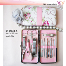 PVC flower case manicue set beauty and personal care products
