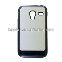 2D Sublimation PC phone case for samsung 7500 with metal sheet