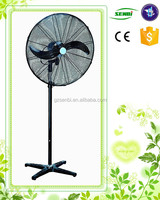 electric stand fan with 2 or 3 metal blade strong wind 30 inch industrial pedestal fan