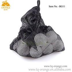 Black Nylon Mesh Nets Bag Pouch Golf