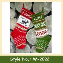 W-2022 christmas stocking knit pattern christmas knit stocking