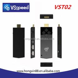 VSSPEED TV Dongle MINI PC Windows8 Intel Z3735F 2GB/32GB Quad core smart TV Stick with free remote contro