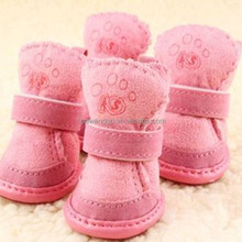 Pink cat and dog shoes, dull polish winter dog walking shoes, dog shoes pet shoes dog shoes