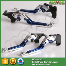 3D Style CNC Adjustable Folding Aluminum Motorcycle Hand Brake Lever For Yamaha Yzf R6 R1 V-MAX
