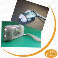 trade assurance China High Quality emergency small 2 led dynamo torch light high beam Ningbo