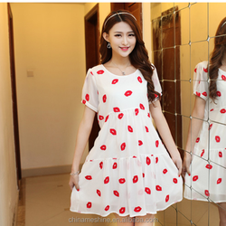 MS70338L Maternity dress ,women casual style embroidered chiffon dresses pregnant women dresses