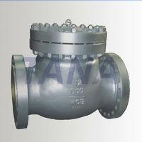 ANSI pressureself-sealing caststeel swing check valve