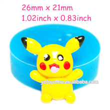 PYL352 Pikachu Silicone Mold - for Craft Cake Decorating Candy Icing Fimo Clay Cabochon Soap Marshmallow