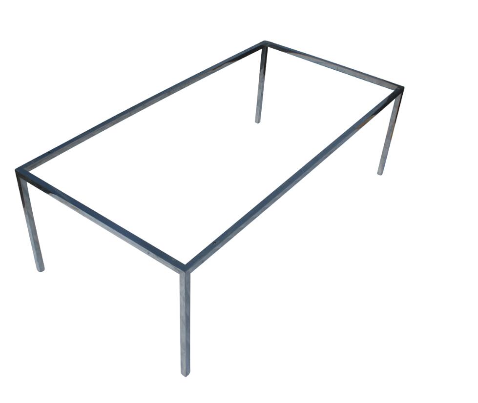 Inoxydable table manger en acier cadre m tal cadre de - Table en acier inoxydable ...