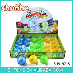 Super flashing light spinning top free football peg top with light