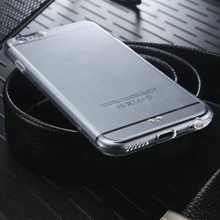 2015 Wholesale Transparent Clear Silicon Phone Case For iphone 6 Back Case